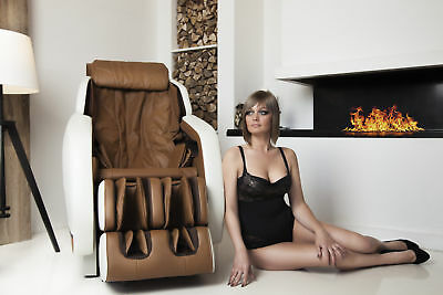 Electric massage chair for home lux body INTEGRO (beige)