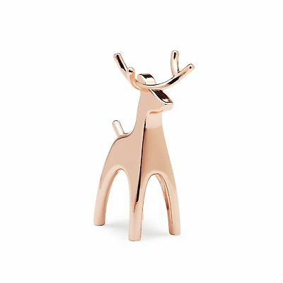 Umbra Anigram Copper Ring Holder Reindeer New