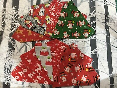 Christmas Handmade Dog / Cat Animal Collar Bandana neckerchief - Dogs Trust Xmas