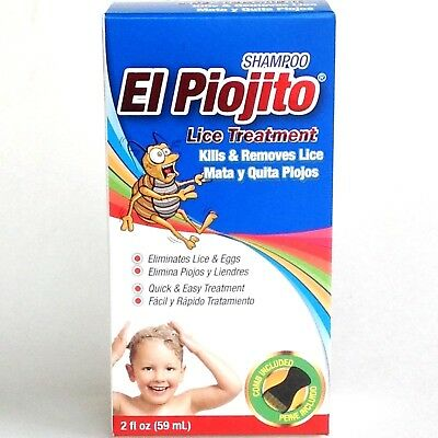 SHAMPOO EL PIOJITO 2 oz - EFFECTIVE LICE TREATMENT SHAMPOO