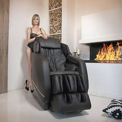 Electric massage chair for home lux body INTEGRO (black)