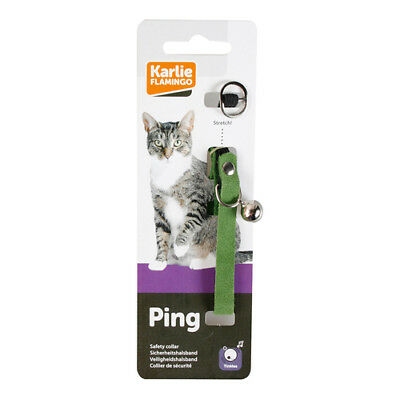 Karlie Velours Collier pour chats VERT, NEUF