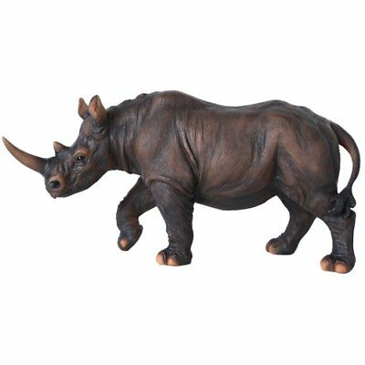 Wildlife Endangered Rhino Rhinoceros 11 Inch Collectible Figurine Statue