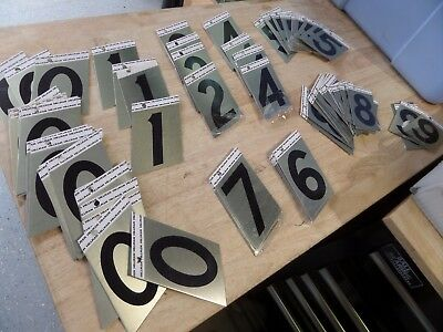 Gigantic Lot of Hillman Peel and Stick House numbers 0-9 - Shelf pulls read