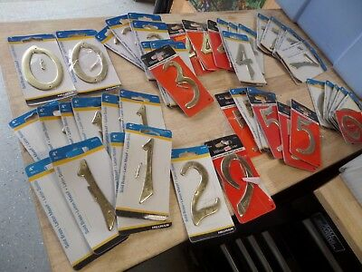 Gigantic Lot of Hillman Permanent House numbers 0-9 - Shelf pulls read
