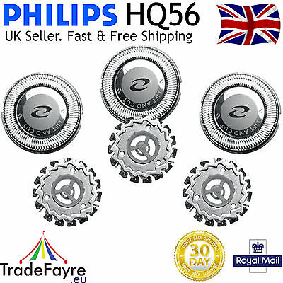 PHILIPS HQ56 UNIVERSAL REPLACEMENT BLADES / FOILS / HEADS. Philishave / Quadra