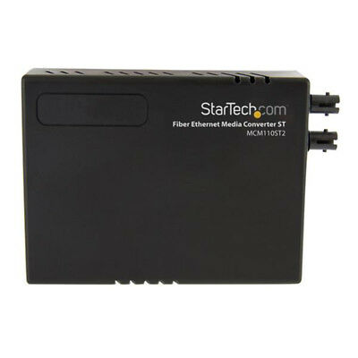 StarTech.com 10/100 Multi Mode Fiber Copper Fast Ethernet Media Converter ST 2 k