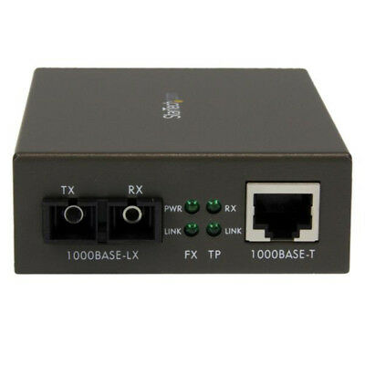 StarTech.com 1000 Mbps Gigabit Single-Mode Fiber Ethernet Media Converter SC 15k