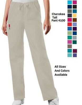 Cherokee Scurbs WorkWear Unisex Tall Pant 4100T All Sizes and Colors