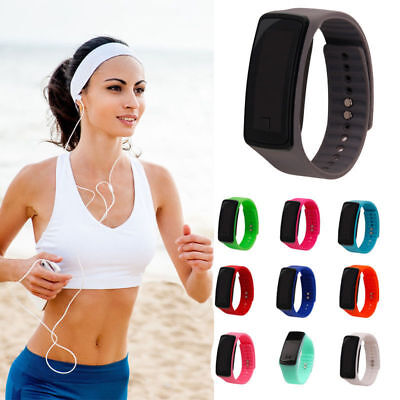 Women/Men Kids/Boys Digital LED Silicon Band Wrist Sports Running Gym Watch