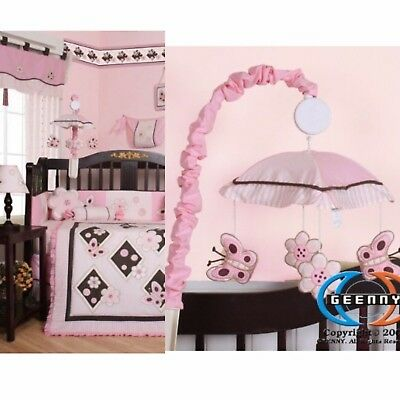GEENNY Musical Mobile Boutique Pink/Brown Butterfly