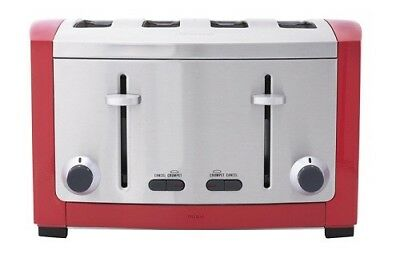 Sunbeam TA9405R Cafe Series® 4 Slice Toaster - Red - RRP $199.00