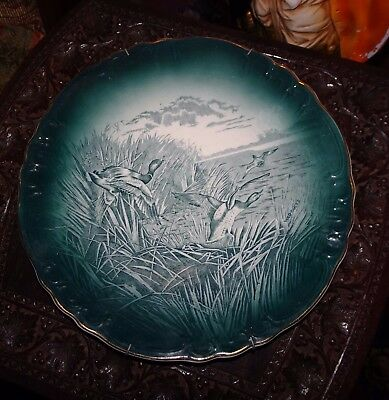 Buffalo Pottery Wild Ducks cabinet  Plate 9.5""