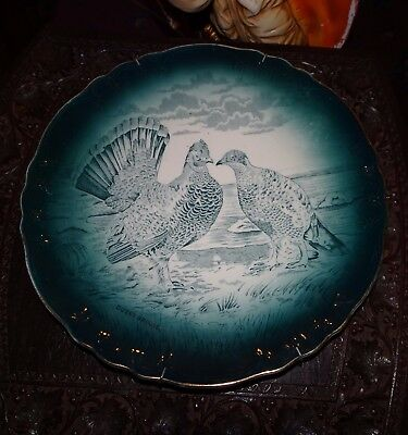 Buffalo Pottery Ducky Grouse cabinet  Plate 9.5""