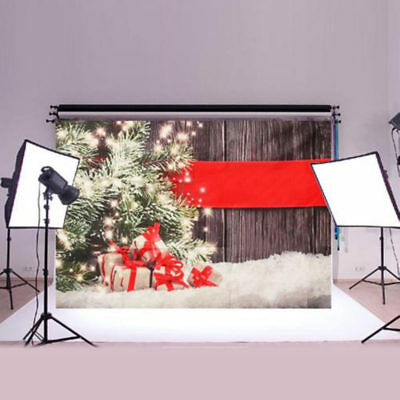3x5ft Christmas Gift Wooden Photography Backdrop Photo Background Studio Props