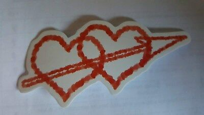 3 pack LOVE HEARTS sticker decal laptop car wall unused uncut quality 10cm x 4cm