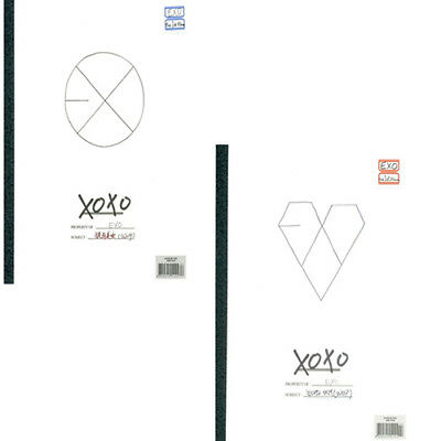 EXO [XOXO] 1st Album KISS/HUG Ver CD+Year Book+Photo Card+Sticker+1p GIFT CARD