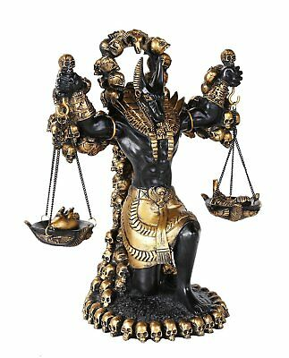 Ancient Egyptian God of Underworld Anubis Guardian of Scales Figurine 8.5 Inches