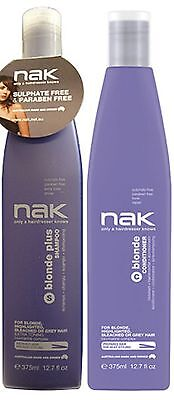 Nak Blonde Plus Shampoo 375 Ml And Blonde Conditioner 375 Ml