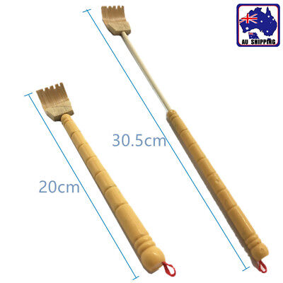 2x Telescopic Back Scratcher Bamboo Body Massage Itchy Relieve Tool HMST83501x2
