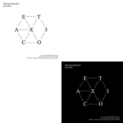EXO [EX'ACT] 3rd Album KOREAN/CHINESE Ver CD+Photo Book+Photo Card+1p GIFT CARD
