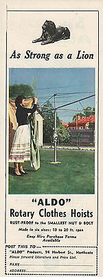 Aldo Rotary Cloths Hoist Herbert St Northcote 1954  Advertising