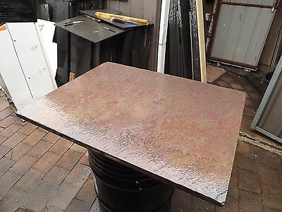 Slate slab under wood heater 1400x1000 we can cut to size, bevel edges.