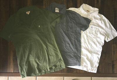 Mossimo Supply Men's Polo Button-up Lot 3 Shirts L Short Sleeve White Gray Green