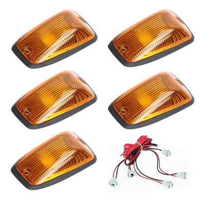 5xCab Roof Marker Lights Amber Cover for 1988-2002 Chevy C1500 C2500 C3500 K1500