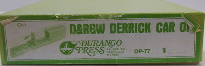 "On3 CRAFTSMAN DURANGO PRESS DENVER & RIO GRANDE WESTERN DERRICK ""OP"" KIT-NEW"