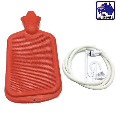 Rubber Water Bottle Cleansing Kit Colon Irrigation Douche Enema Bag SGBA88301