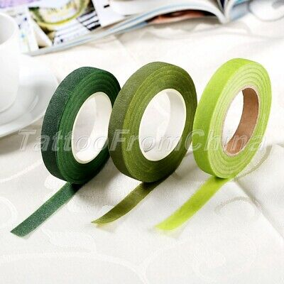Green Florist Floral Stem Tape Corsages Buttonhole Flower Stamen Wrinkle Paper
