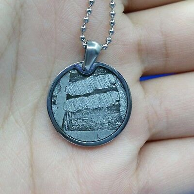 Meteorite pendant iron seymchan accessory necklace jewelry round amulet mineral