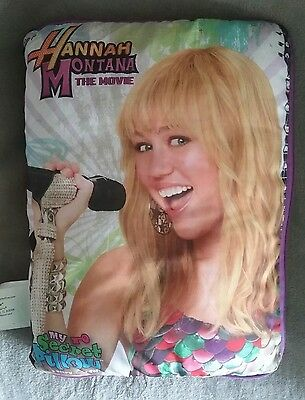 Hannah Montana My Secret Pillow cushion diary soft pages with MP3 cable 2008