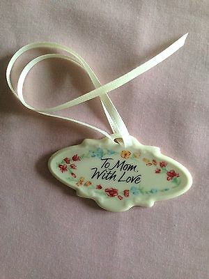 Longaberger 2001 Mothers Day Tie-on Pottery Necklace Charm Mom NEW