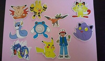 POKEMON sticker PACK OF 10 decal laptop wall unused uncut quality 1