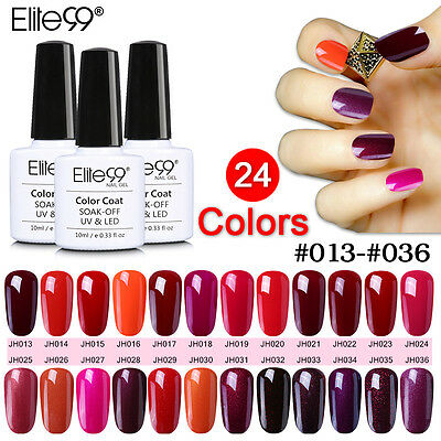 Elite99 Weinrot Serie Gel Polish Farbgel UV Gel Led Lack 10ML Top Base Coat