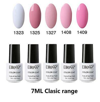 Elite99 UV Gel Polish Nagellack 5 Farben Set Soak off Maniküre Top Base Coat 7ML