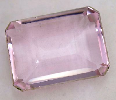 VVS 61.05 Ct Shiny Pink Morganite GGL Certified Emerald Cut AAA+ Gem Stone