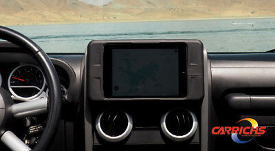 TDK610 2007-2010 Jeep Wrangler Tablet iPad Mini 1 2 3 Dash Kit Mount Carrichs