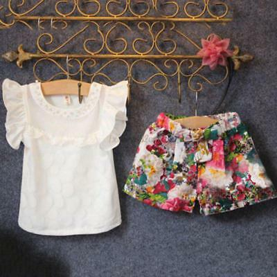 Infant Baby Girl's Shirt Tops+Tutu Dress Outfits Multi-color Clothes Sets XS-XL