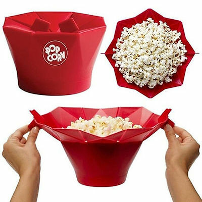 Microwave Silicone Magic HOUSEHOLD Popcorn MAKER CONTAINER HEALTHY COOKING KY