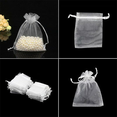 100pcs 7x9cm Drawstring Organza Pouch Gift DIY Package Jewelry Party Bags New