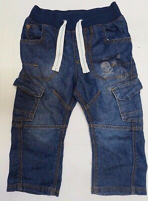 Boys jeans denim ribbed waist M & S Baby 12 18 months 2 3 4 5 6 7 years NEW