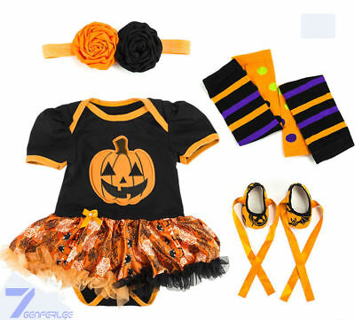 Baby Girl Fancy Dress Halloween Party Costume Romper Bodysuit Outfit Set