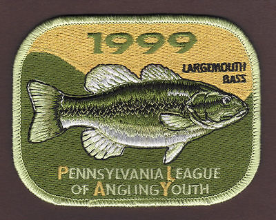 Pa Pennsylvania Fish Commission 1999 Largemouth Bass Youth Fishing PLAY Patch