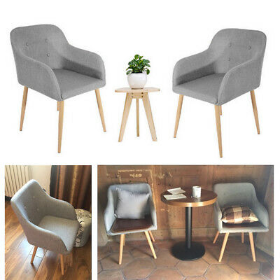2 4 6 Lined Fabric Dining Chairs Roll Top Scroll High Back Kitchen Restaurant UK
