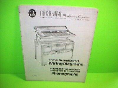 Rock Ola Model 460 / 459 original Jukebox Phonograph Wiring Diagrams Schematic