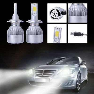 2x 20000LM 110W LED Headlight H7 Phare voiture Ampoule Halogène 6500K CREE LD974