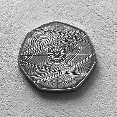 Sir Isaac Newton 50p Fifty Pence coin 2017 - Free Postage - New - Uncirculated